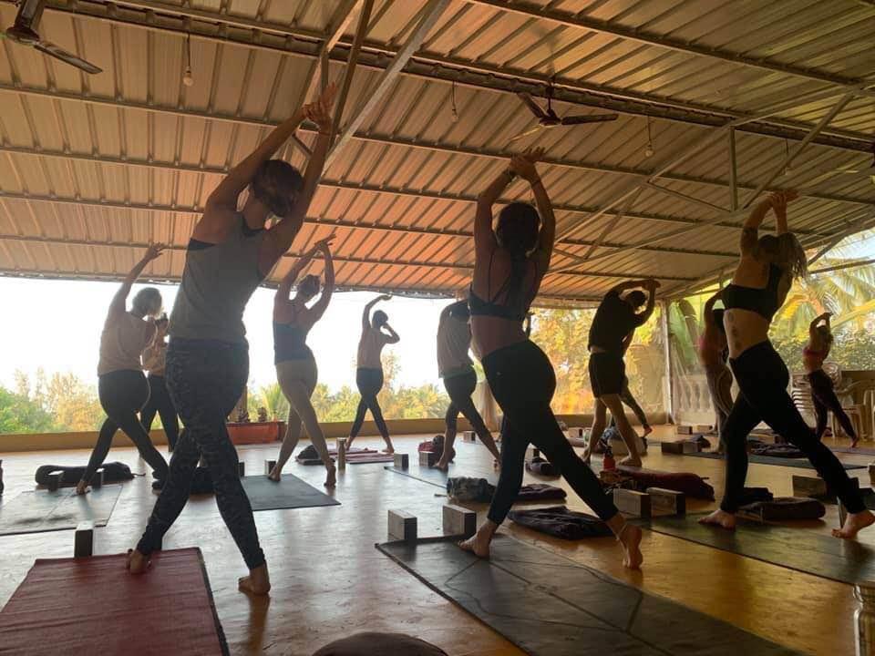 yoga practice at Sampoorna Yoga